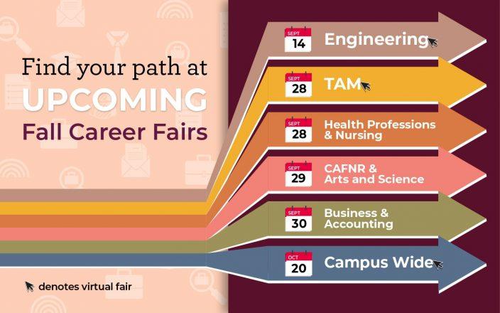 Spring 2021 career fairs