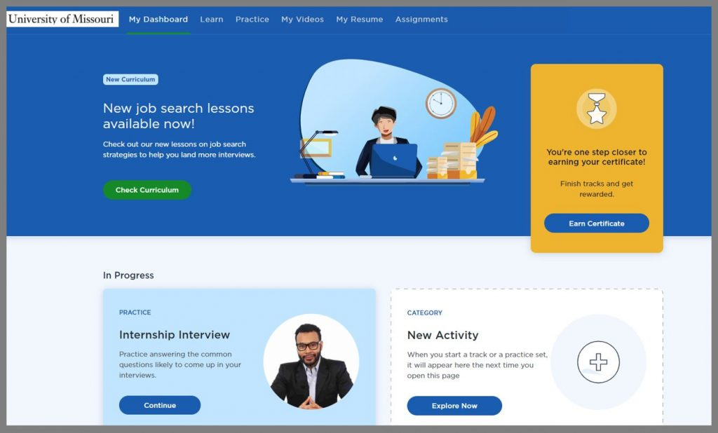 Big Interview homepage